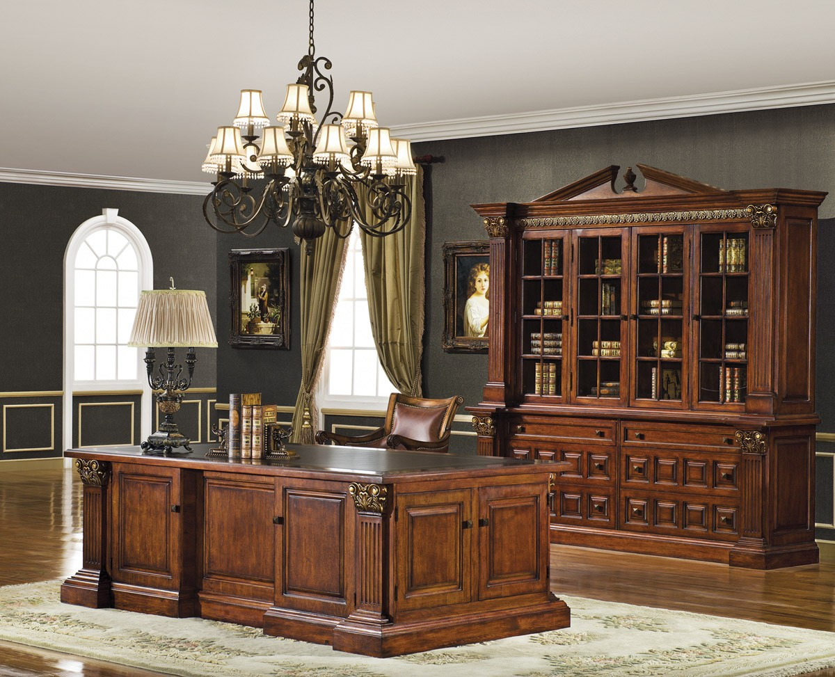 Warm Cherry Executive Desk Home Office Collection: Landfair On Furniture: Inspirational Designs For The Home