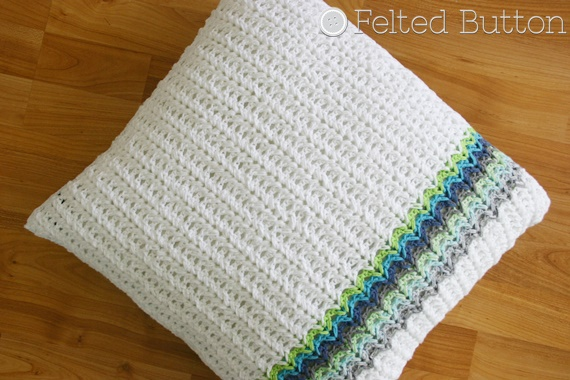 Herringbone Taking Shape Pillow Crochet Pattern by Felted Button