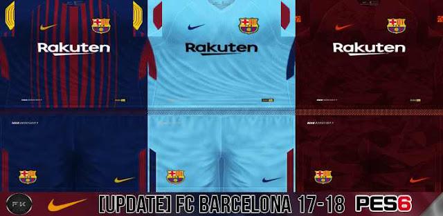 8500a507f7f ultigamerz  PES 6 FC Barcelona 2017 18 GDB Kits Update v.5