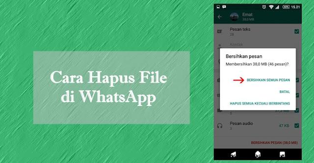 Cara Menghapus Beban Memori WhatsApp