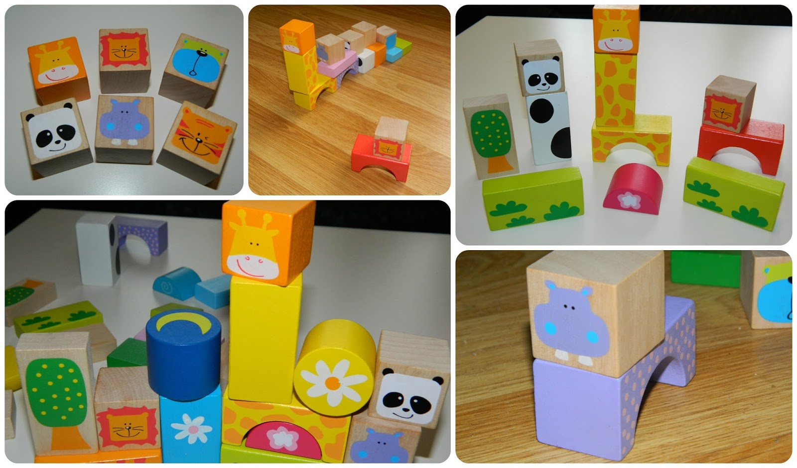 Learning Through Play With Bigjigs Wooden Safari Animal Building Blocks
