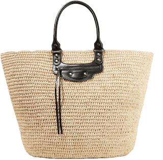 summer trends 2017 woman girls dominique candido blogger fashion travel basket bag stripes asymmetrical shirts tropical print sandals balenciaga bag