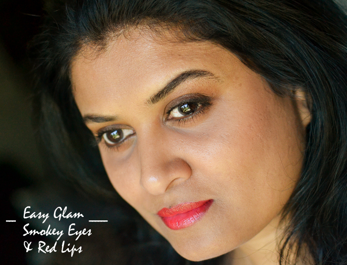 Easy Glam Makeup Tutorial Steps - Soft Smokey Eyes with Red Lips - UD Vice lipstick EZ