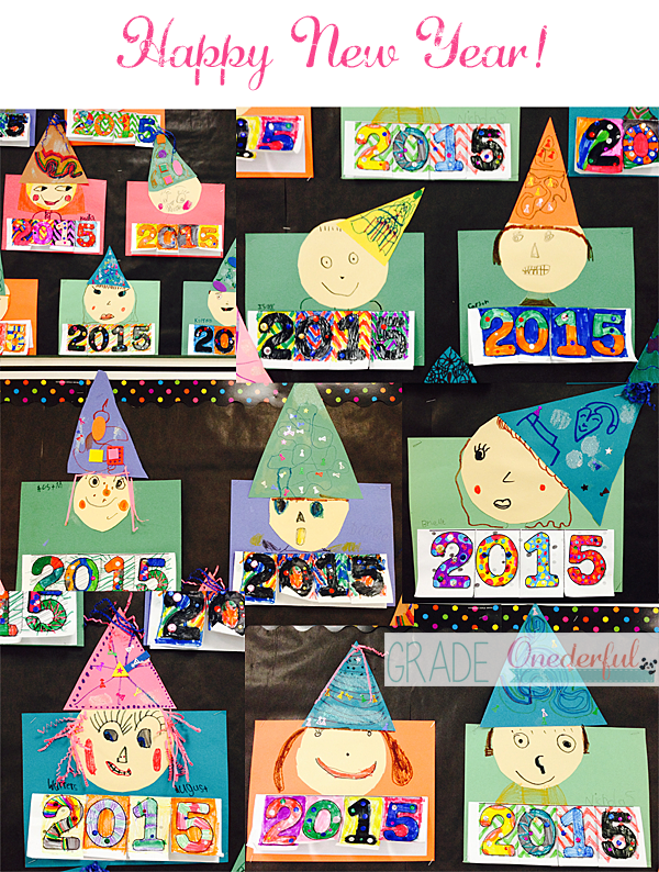 Happy New Year Resolutions Flap Book for Grade One