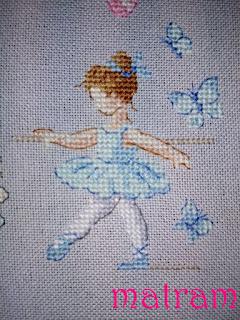 haft metryczka baletnica
