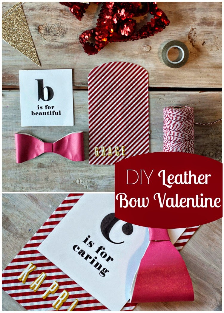 DIY Leather Bow Valentine from Carissa Miss