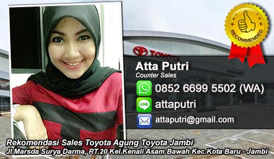 Rekomendasi Sales Agung Toyota Jambi