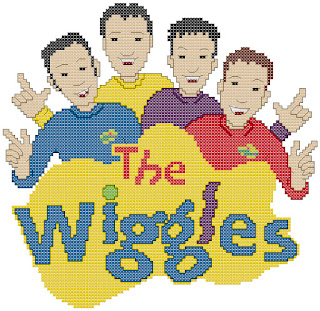 Free cross-stitch patterns, The Wiggles, children's entertainment group, music, clipart, cross-stitch, back stitch, cross-stitch scheme, free pattern, x-stitchmagic.blogspot.it, вышивка крестиком, бесплатная схема, punto croce, schemi punto croce gratis, DMC, blocks, symbols, patrones punto de cruz, #crossstitch_pattern, #crossstitch