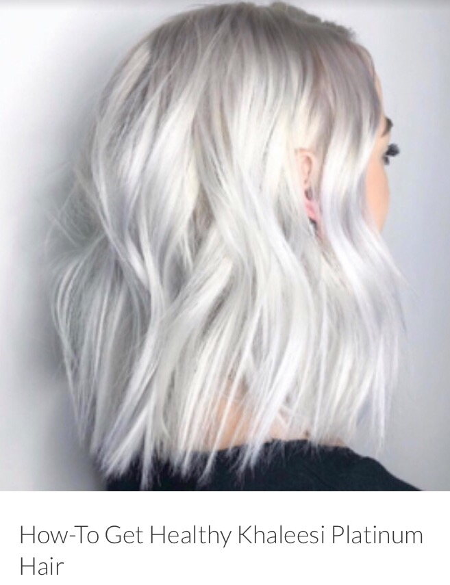 Shiny Platinum hair achieved using Olaplex