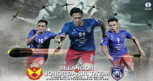 Live Streaming Selangor vs JDT 5.8.2017 Liga Super