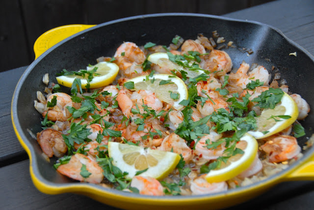 summer shrimp scampi lemon quick dinner
