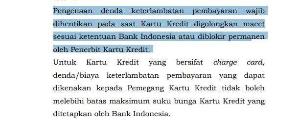 Undang - undang kartu kredit macet