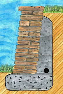 cr ation paysage construction d 39 un muret de sout nement en pierres naturelles. Black Bedroom Furniture Sets. Home Design Ideas