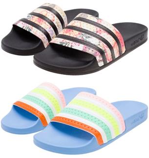 Farm e Adidas Originals chinelos Confete e Tukana