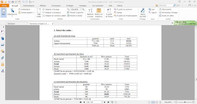 ss - Comptabilité analytique : Exercice et corriges