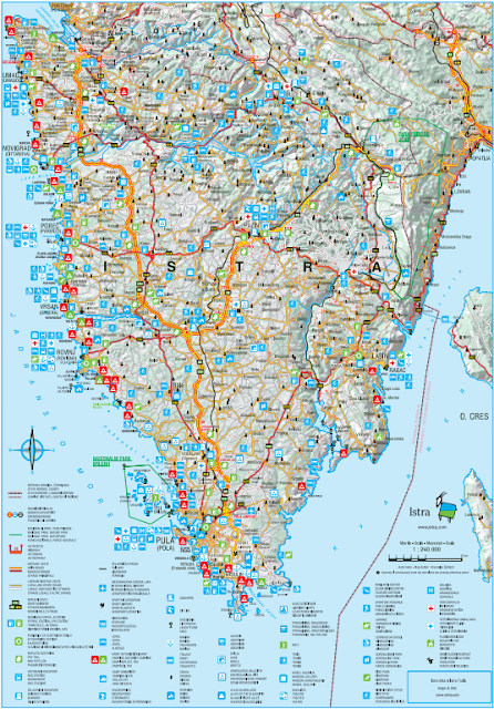 Istria Tourist Map