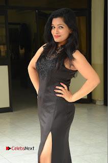 Actress Revathi Chowdary  Pictures in Black Long Dress at Kakateeyudu Movie Press Meet  0060.JPG