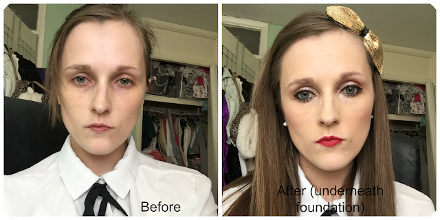 before and after kanebo sensai triple touch compact concealer