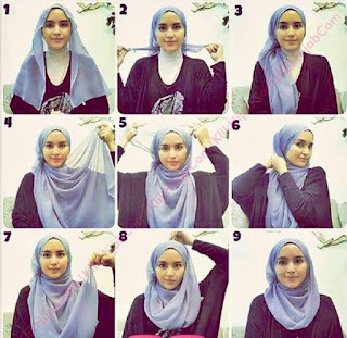 25+ Kreasi Tutorial Hijab Segi Empat Simple 2018