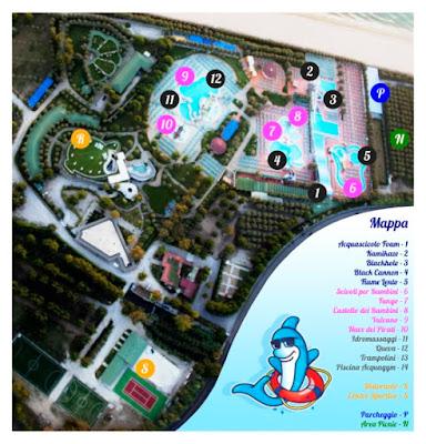 Mappa Isola Verde Acquapark
