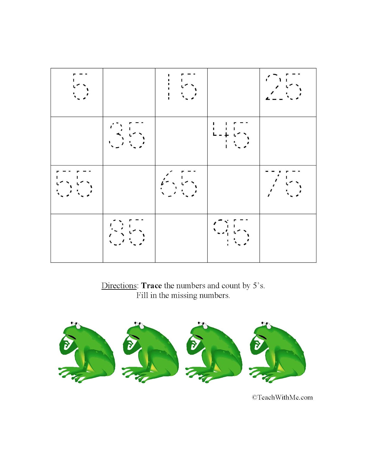 Monthly Skip Counting Skill Sheets Classroom Freebies