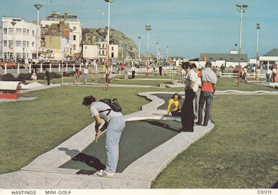 A postally unused Hastings Mini Golf postcard C6911 by Judges Limited Hastings