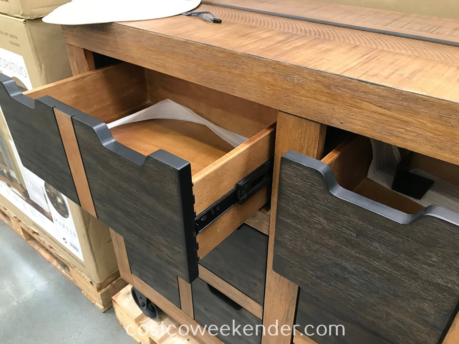 Martin Furniture Accent Cabinet provides plenty of storage