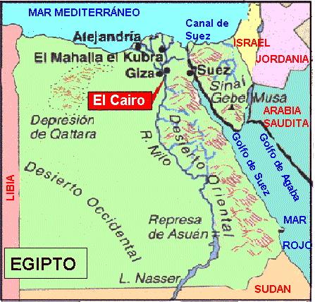 Patria y Unidad Un poco de geografa Mapa de Egipto