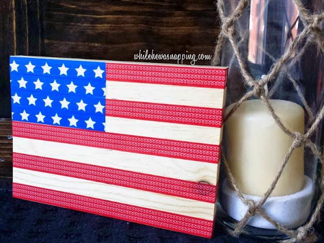 DIY Patriotic USA Craft