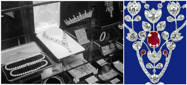 Wedding Gifts Queen Elizabeth : ... display with the rest of the wedding gifts, and a detail of the center