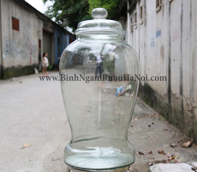 Binh thuy tinh sam Thai Binh 40 lit