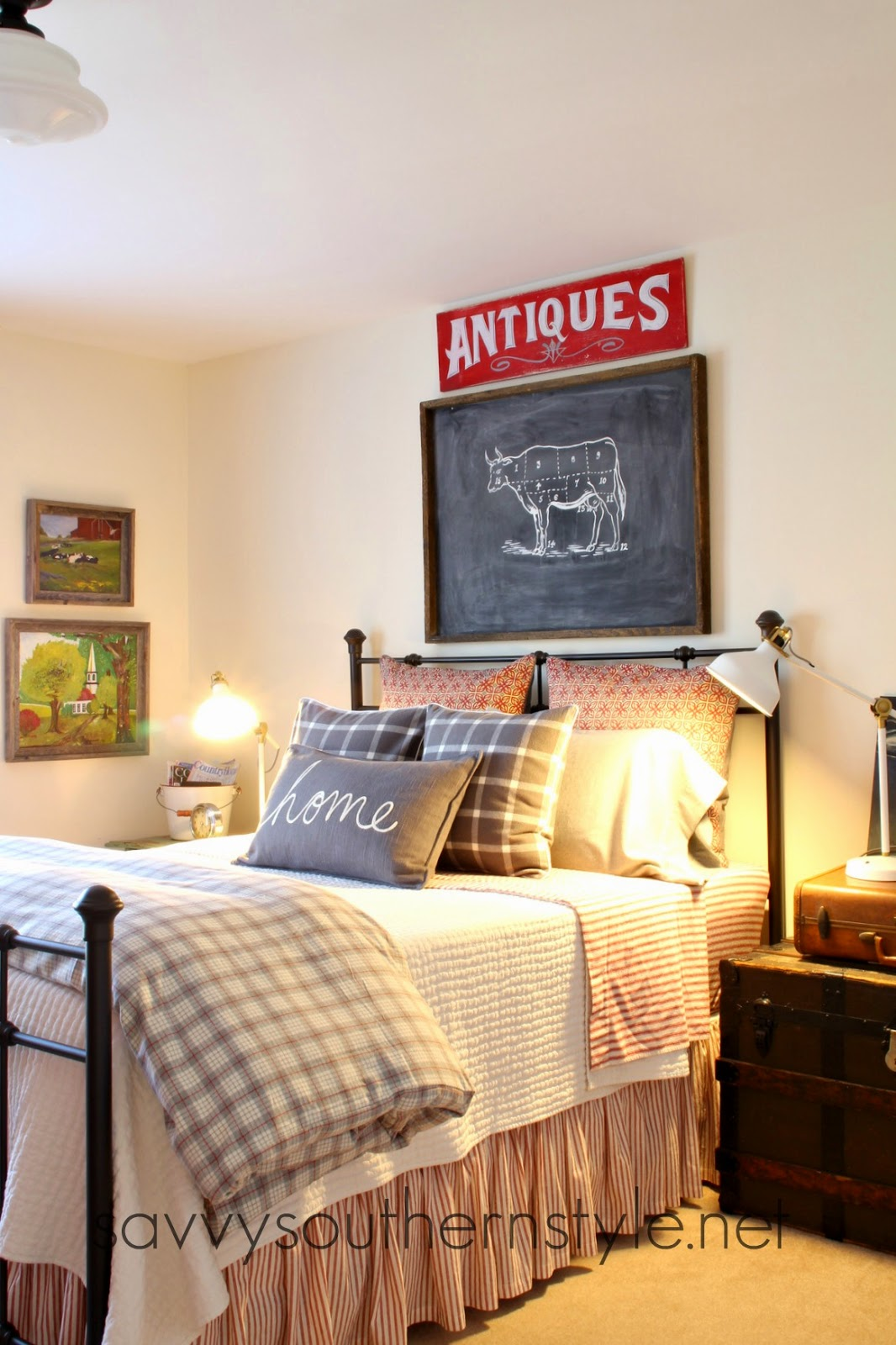 Fashion Inspired Guest Room: Savvy Southern Style : Ikea Ranarp Lamps In The Guestroom
