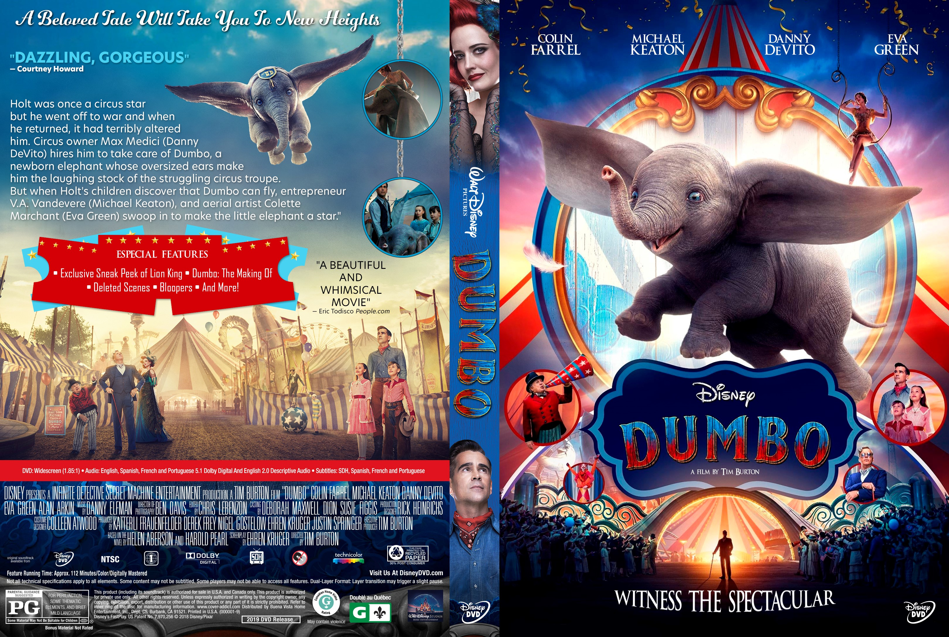 Dumbo 2019 Dvd Cover Cover Addict Free Dvd Bluray
