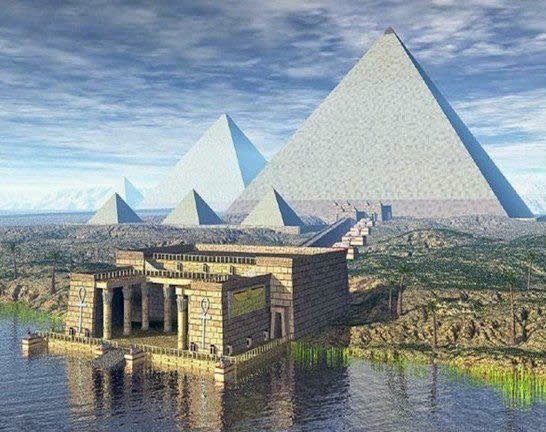 The Great Pyramids were originally bright white When the pyramids were originally finished