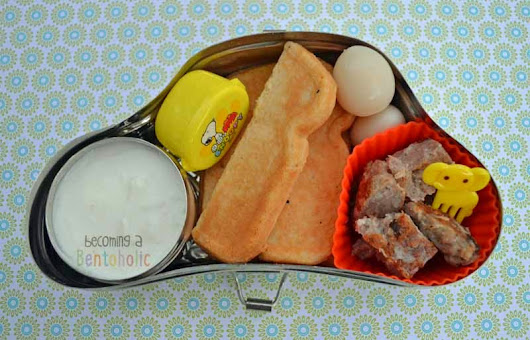 Breakfast for Lunch {always a hit!}     ~      Becoming A Bentoholic