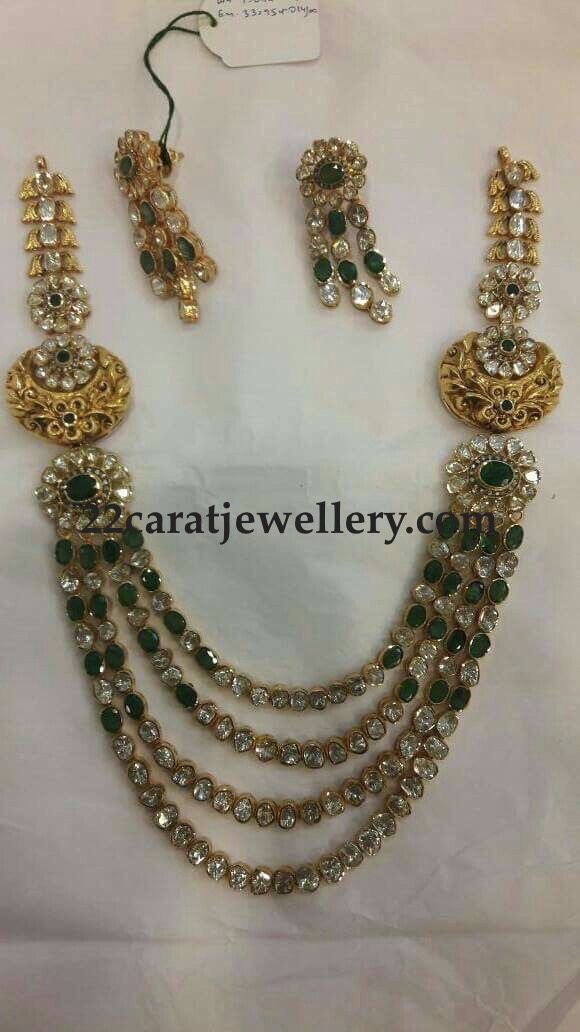 Four Layer Emerald Pachi Work Long Set