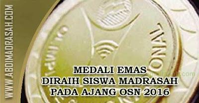 Dua Medali Emas OSN Tahun 2016 Bidang Astronomi Diraih Siswa Madrasah