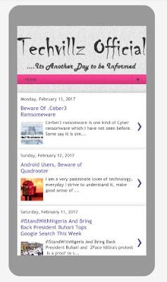 Techvillz.com blog template download