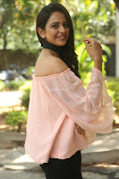 Rakul Preet Singh in lovely Pink Crop Top and Black Trousers at Jaya Janaki Nayaka success meet 034.JPG