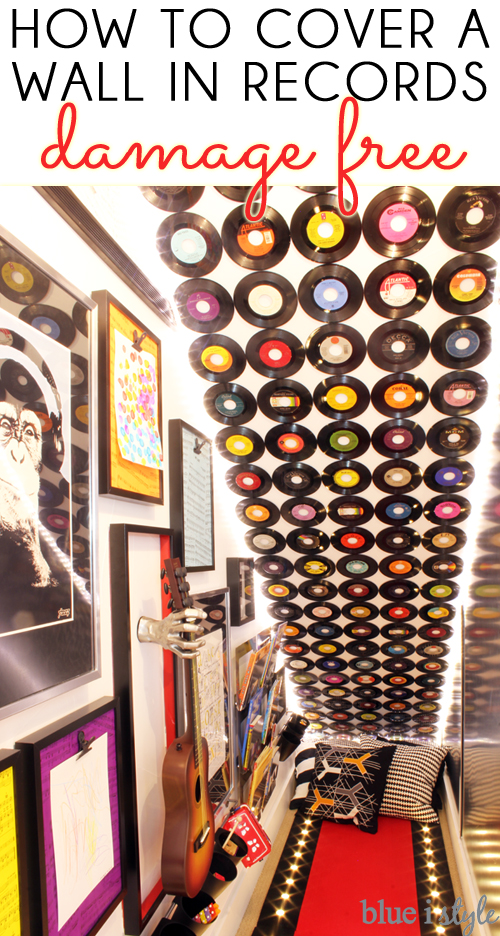 How to hang a record feature wall
