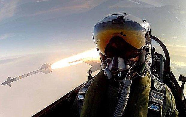 Um míssil sendo lançado