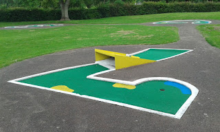Crazy Golf at Gadebridge Park in Hemel Hempstead