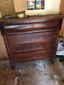 vintage empire dresser before