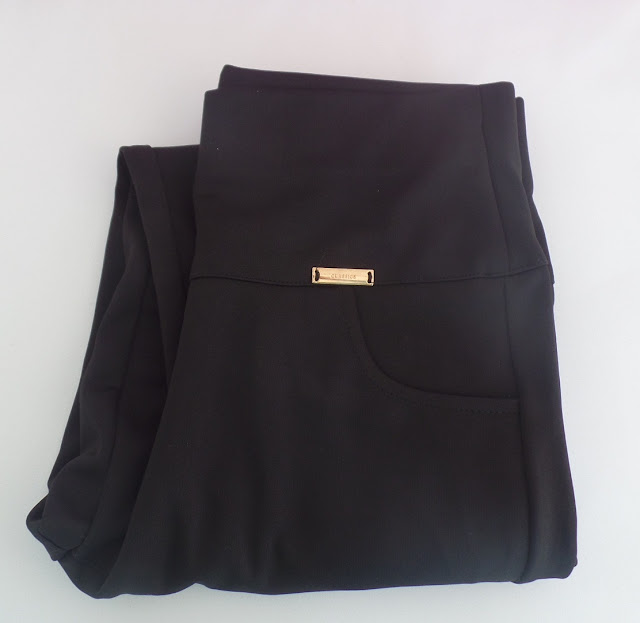 High Waist Slimming Pencil Pants - Black