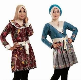 Baju batik remaja putri berjilbab