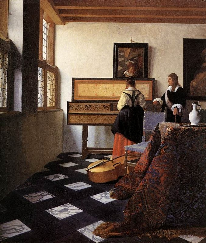 La lliçó de música (Jan Vermeer de Delft)