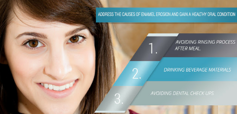 Causes of Enamel Erosion and Gain a Healthy Oral Condition
