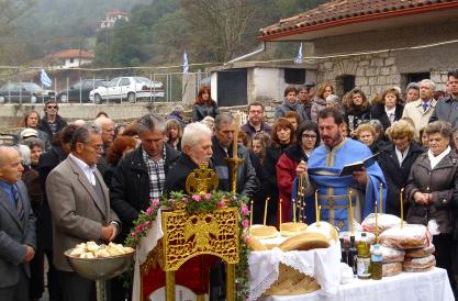 Πανηγυρικά και με νηστήσιμη φασολάδα εορτάστηκε στη Λεπτοκαρυά Θεσπρωτίας η Αγία Βαρβάρα