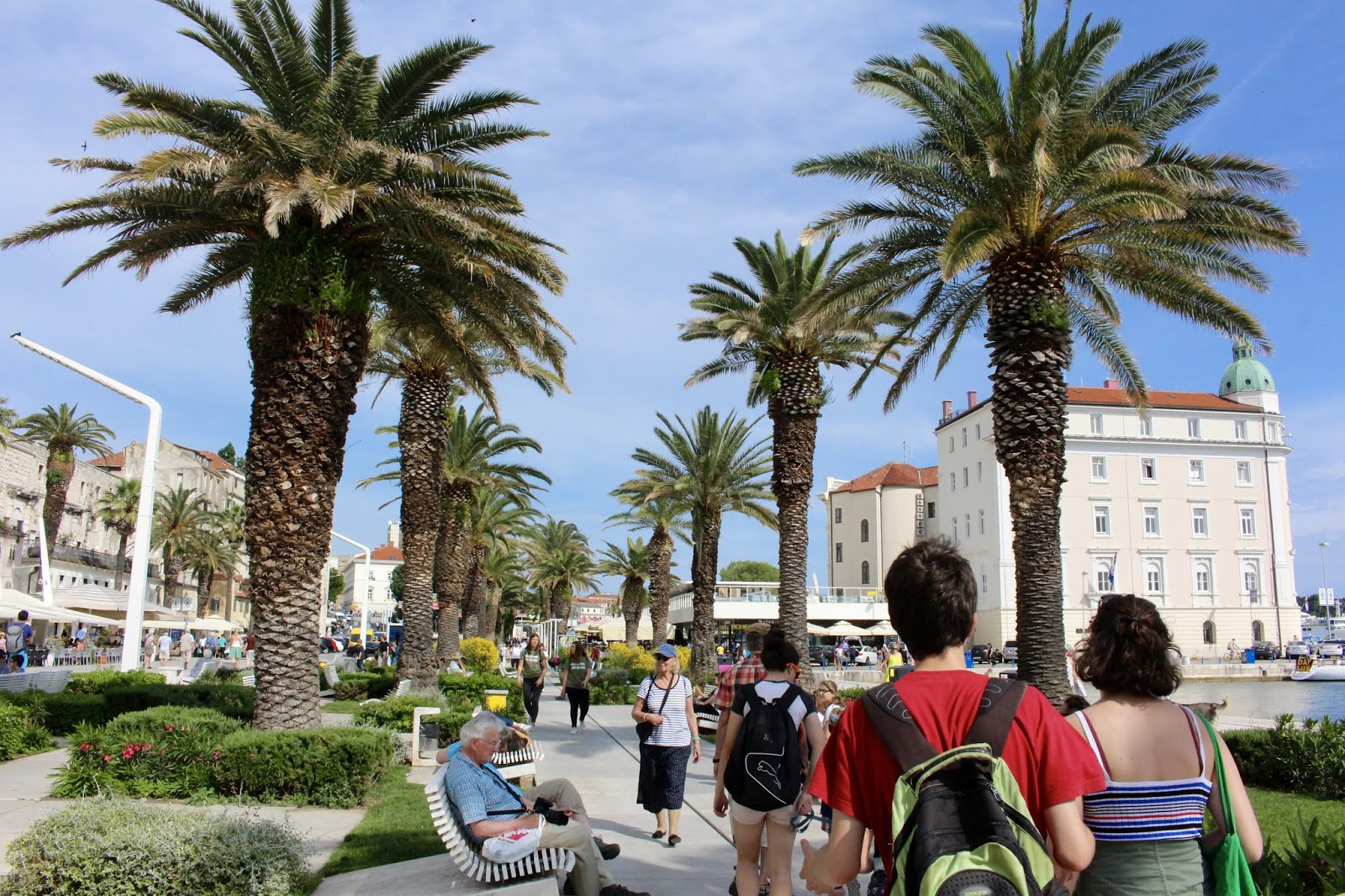 Riva in Split, Kroatien