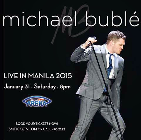 Michael Bublé Concert at MOA Arena by Wilbros Live - Showing in Philippines